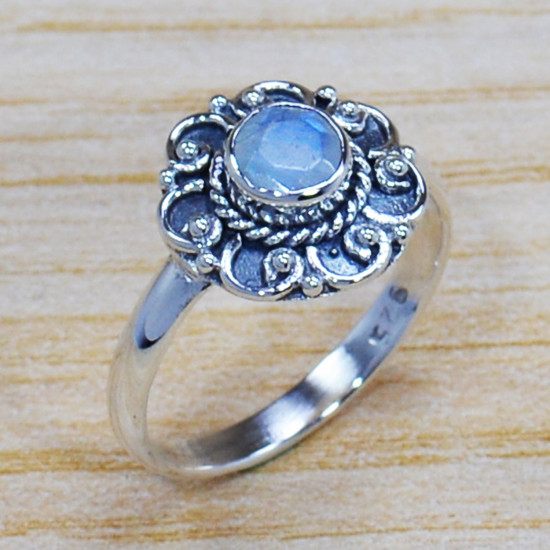 Wholesale Price Jewelry Rainbow Moonstone 925 Sterling Silver Ring SJWR-1009