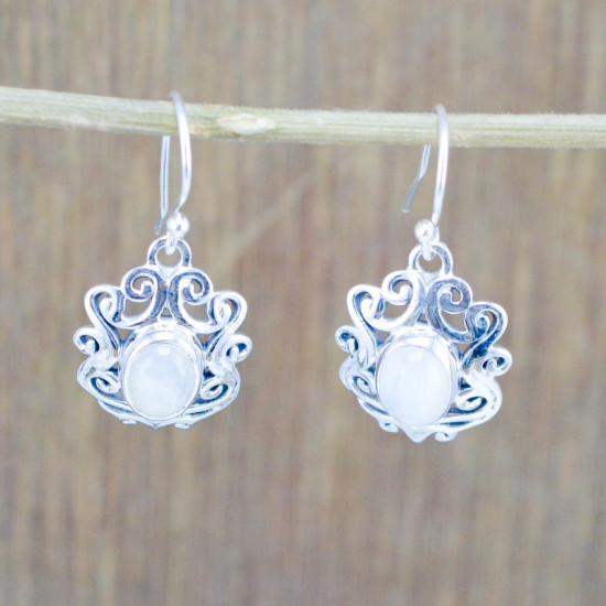925 sterling silver jewelry rainbow moonstone new fashion earring WE-5435