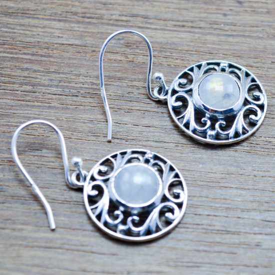 925 sterling silver jewelry rainbow moonstone new fashion earring WE-5439