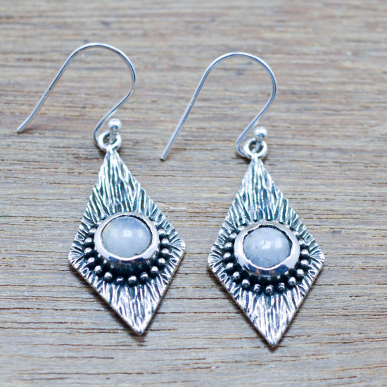 925 sterling silver jewelry rainbow moonstone new fashion earring WE-5441