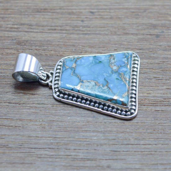 925 sterling silver jewelry copper turquoise gemstone new pendant WP-5534