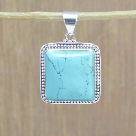 925 sterling silver jewelry turquoise gemstone royal pendant WP-5549