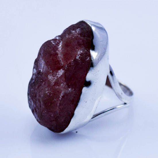 925 sterling silver wholesale rough jewelry coral gemstone new ring WR-4849