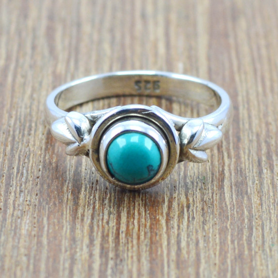 925 sterling silver jewelry nice turquoise gemstone wholesale ring WR-5035
