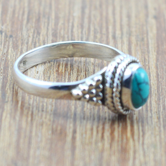 925 sterling silver new fashion jewelry turquoise stone ring WR-5047