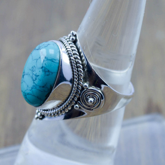 925 sterling silver jewelry turquoise gemstone new ring WR-5253