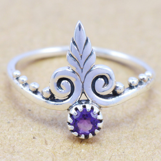 925 sterling silver jewelry amethyst wholesale royal ring WR-6181
