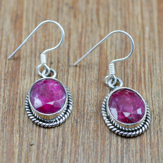 925 sterling silver jewelry wholesale set royal ruby gemstone WS-4707