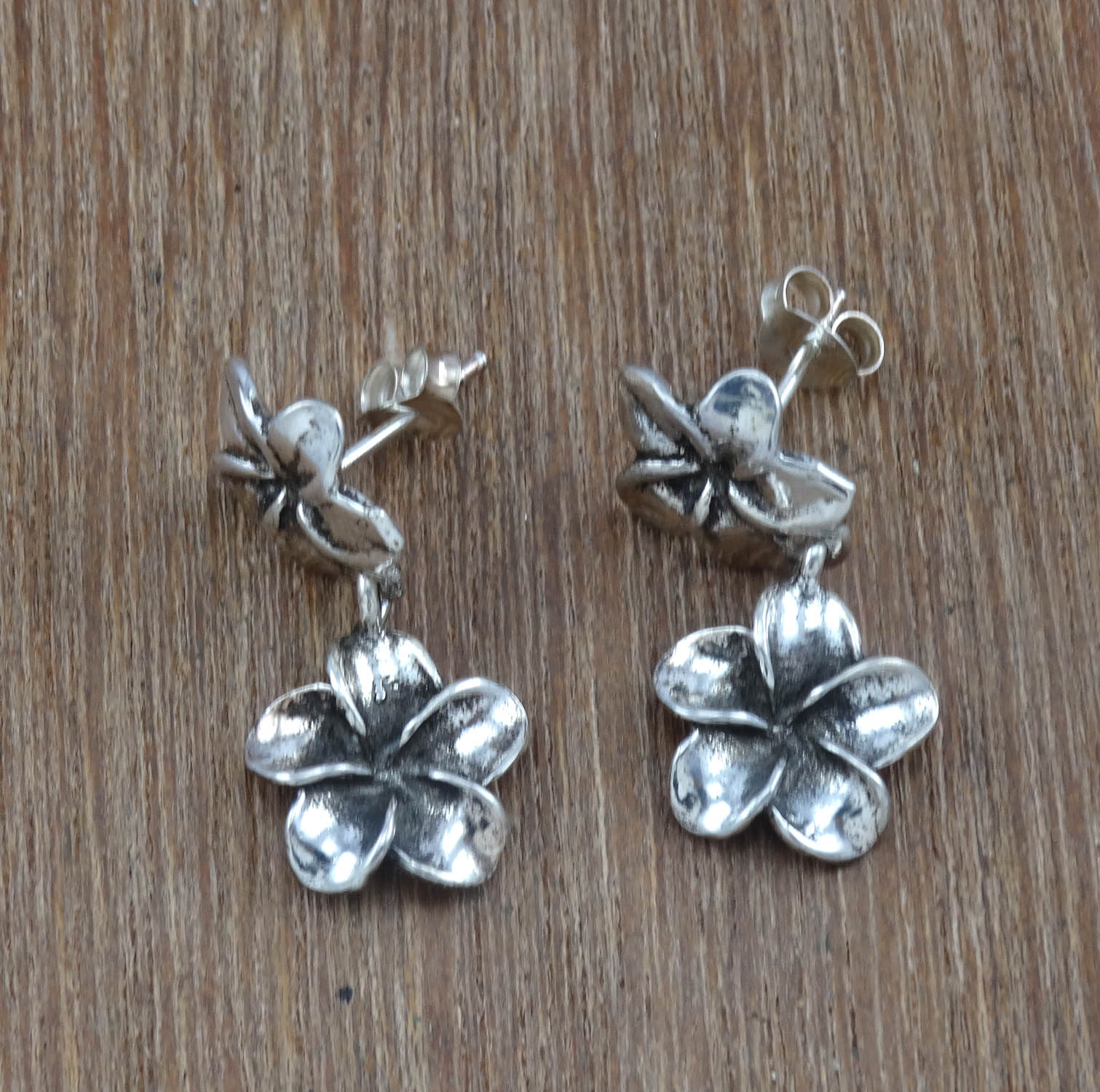 Antique-Sterling-925-Sterling-Silver-Plain-Fashion-Jewelry-Earring-PWE-3108
